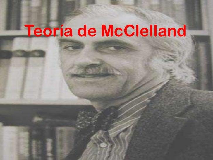 Teoría de McClelland