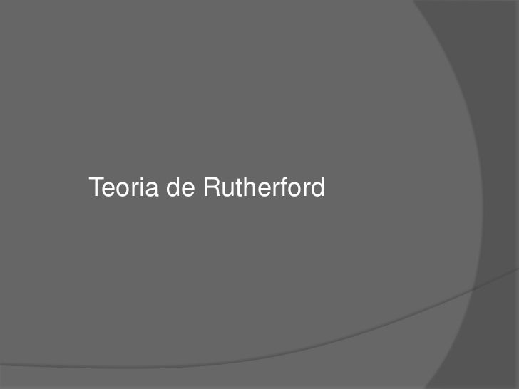 Teoria de Rutherford