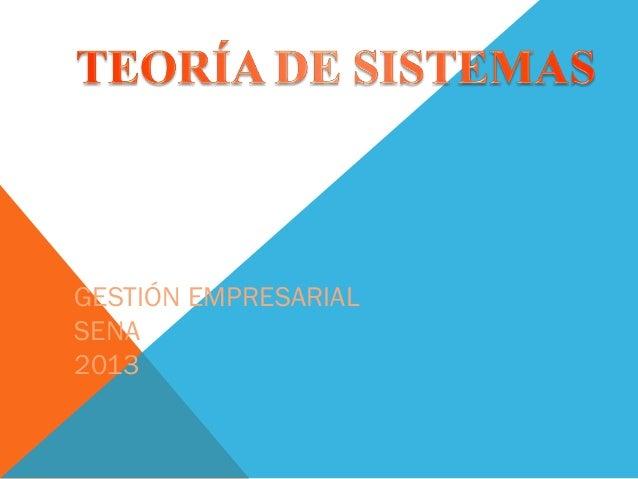 GESTIÓN EMPRESARIALSENA2013