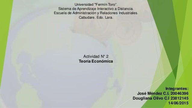 """Universidad """"Fermín Toro"""". Sistema de Aprendizaje Interactivo a Distancia. Escuela de Administración y Relaciones Industri..."""