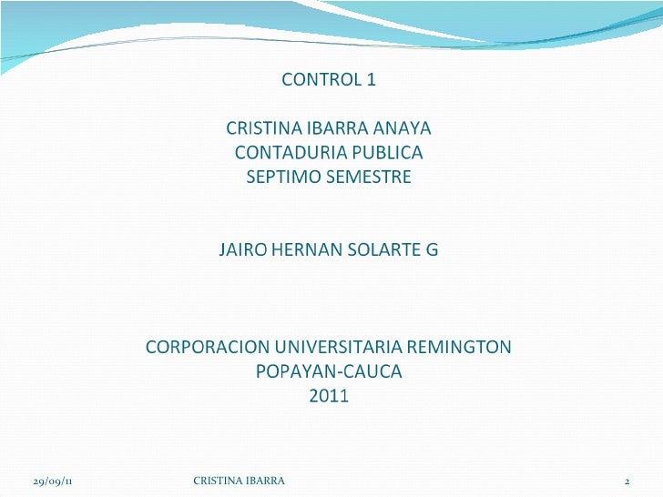 29/09/11 CRISTINA IBARRA