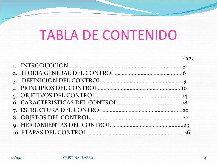TABLA DE CONTENIDO <ul><li> </li></ul><ul><li>  Pág. </li></ul><ul><li>1.  INTRODUCCION…………………………………………………………………….5 </li>...