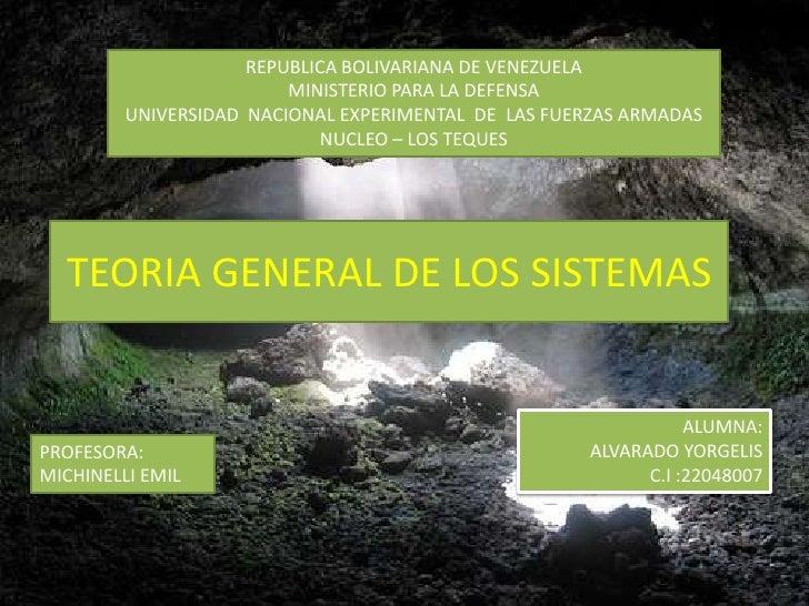 REPUBLICA BOLIVARIANA DE VENEZUELA<br />MINISTERIO PARA LA DEFENSA<br />UNIVERSIDAD  NACIONAL EXPERIMENTAL  DE  LAS FUERZA...