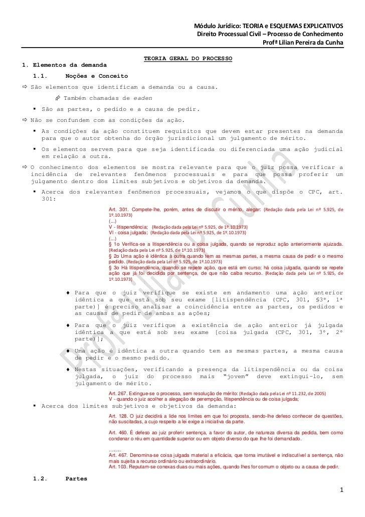 Módulo Jurídico: TEORIA e ESQUEMAS EXPLICATIVOS                                                                  Direito P...