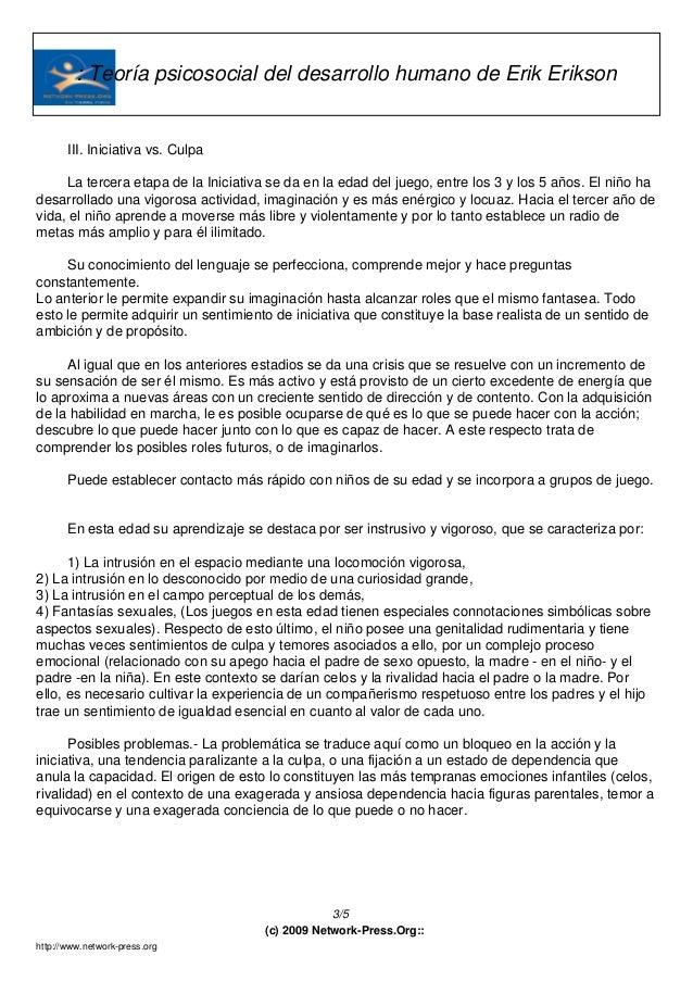 Teoria psicosexual de erikson pdf