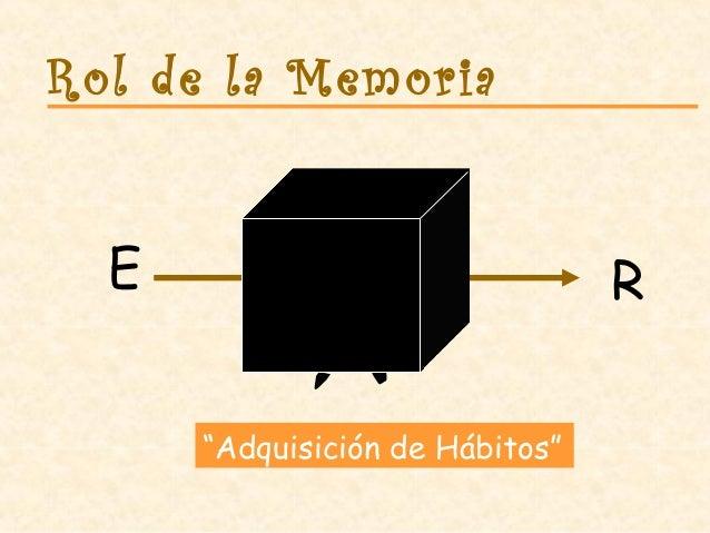 """Rol de la Memoria E R """"Adquisición de Hábitos"""""""