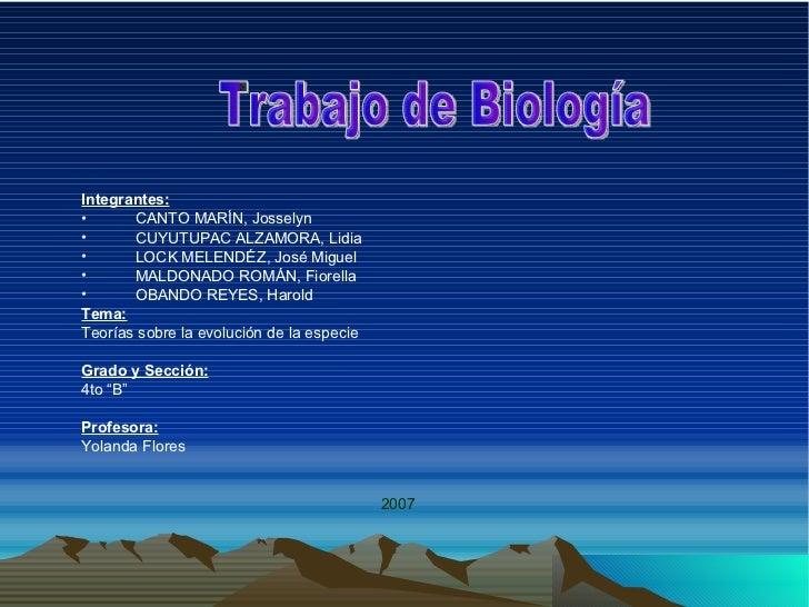 <ul><li>Integrantes: </li></ul><ul><li>CANTO MARÍN, Josselyn </li></ul><ul><li>CUYUTUPAC ALZAMORA, Lidia </li></ul><ul><li...