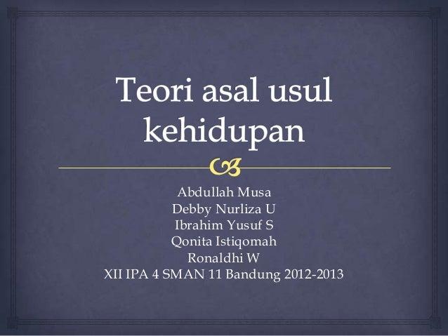 Abdullah Musa           Debby Nurliza U           Ibrahim Yusuf S           Qonita Istiqomah             Ronaldhi WXII IPA...