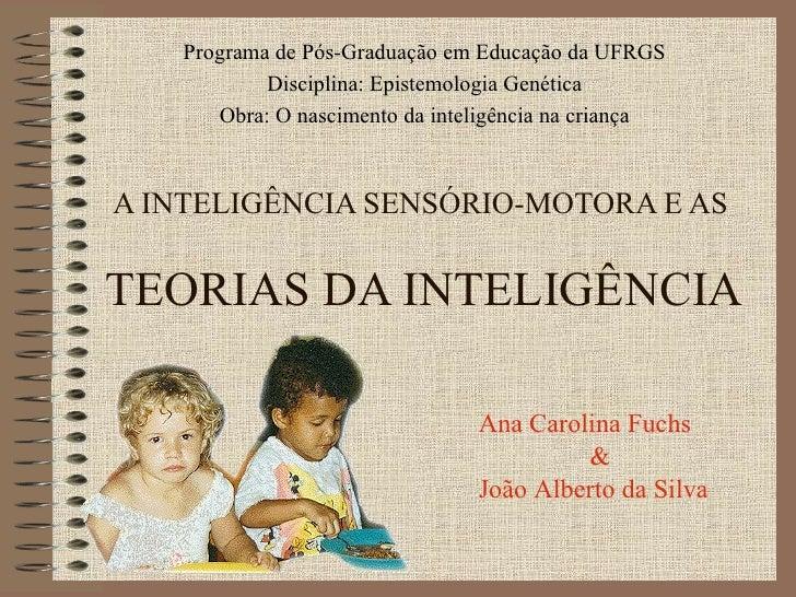 A INTELIGÊNCIA SENSÓRIO-MOTORA E AS  TEORIAS DA INTELIGÊNCIA Programa de Pós-Graduação em Educação da UFRGS Disciplina: Ep...