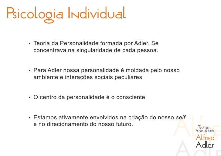 Teorias da personalidade adler e horney Slide 3