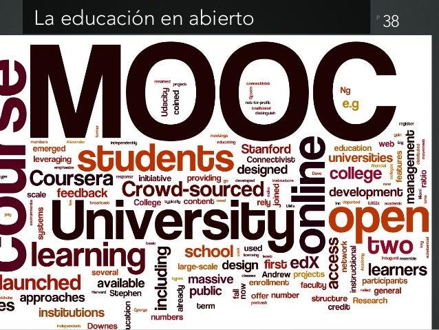 P Corporeidad de un MOOC 39 Rovira et al (2013) el propio contenido del curso