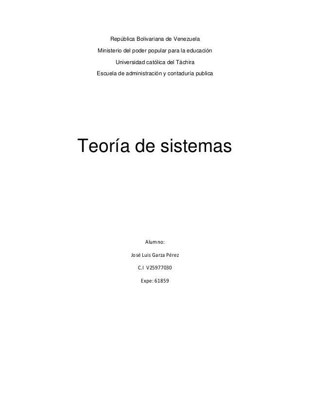 República Bolivariana de Venezuela Ministerio del poder popular para la educación Universidad católica del Táchira Escuela...