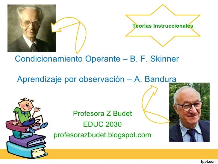 skinner vs bandura Skinner's theory on operant conditioning november 17, 2017 after the retirement of john b watson from the world of academic psychology, psychologists and behaviorists were eager to propose new forms of learning other than the classical conditioning.