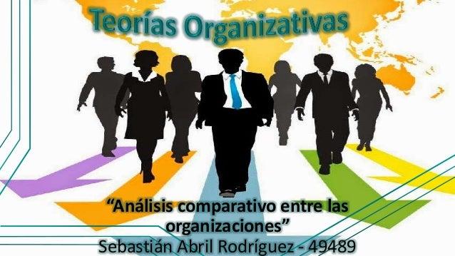 """""""Análisis comparativo entre las organizaciones"""" Sebastián Abril Rodríguez - 49489"""