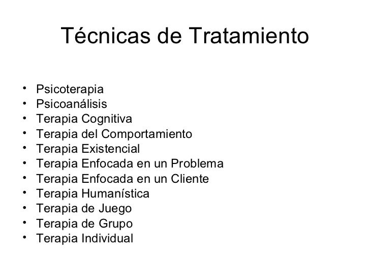 Teoria y tecnicas de terapia