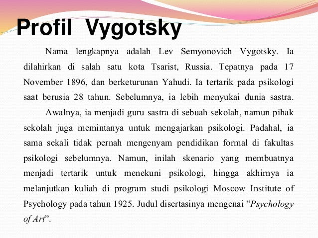 a biography of lev semyonovich vygotsky a psychologist Lev vygotsky was a seminal thinker who had a powerful influence on psychology and education learn more about his life, work, and theories lev vygotsky was a seminal thinker who had a powerful influence on psychology and education.