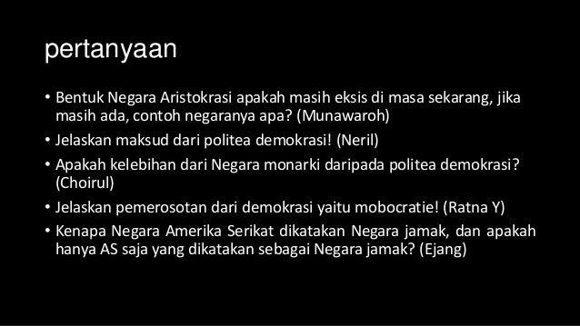 Teori bentuk negara dan bentuk pemerintahan