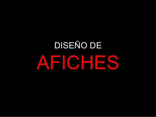 DISEÑO DE AFICHES