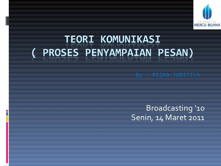 Broadcasting '10 Senin, 14 Maret 2011