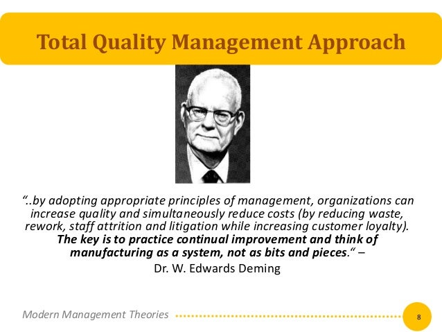 approach to quality management at tesco Source: w edwards deming institute, 14 points for management, available at wwwdemingorg the model for improvement the model for improvement (mfi) is the most commonly used qi approach in health care and one you will want to teach your practices.