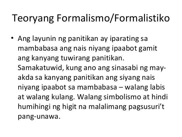 Teoryang formalismo