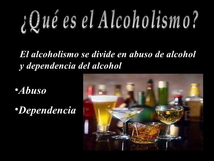Alcohólico la dependencia de los hombres