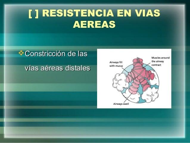 [ ] RESISTENCIA EN VIASAEREASConstricción de lasConstricción de lasvías aéreas distalesvías aéreas distales