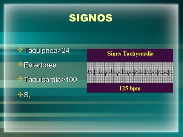SIGNOSTaquipnea>24Taquipnea>24EstertoresEstertoresTaquicardia>100Taquicardia>100SS44