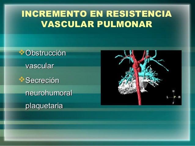 INCREMENTO EN RESISTENCIAVASCULAR PULMONARObstrucciónObstrucciónvascularvascularSecreciónSecreciónneurohumoralneurohumor...