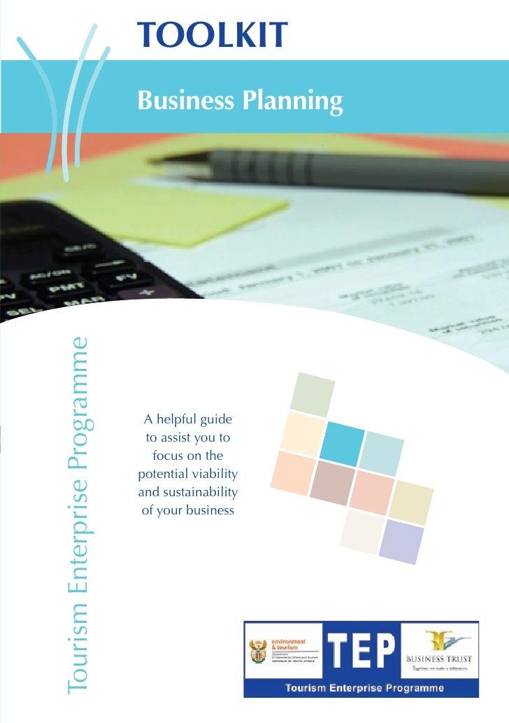 TOOLKIT                               Business PlanningTourism Enterprise Programme                                A helpf...