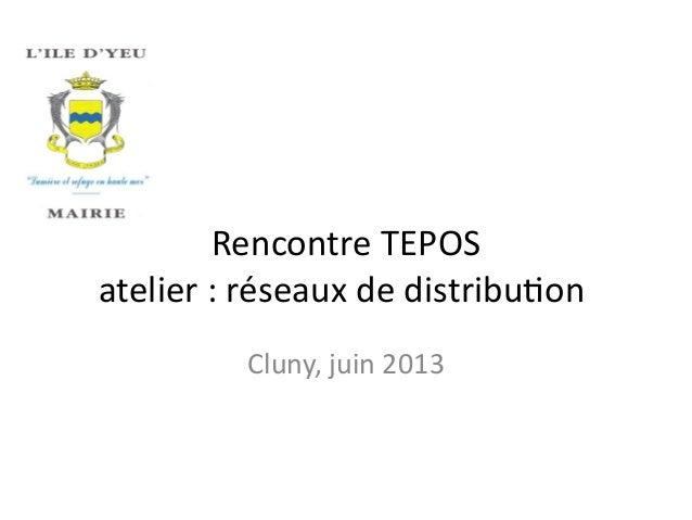 Rencontre TEPOS atelier : réseaux de distributon Cluny, juin 2013