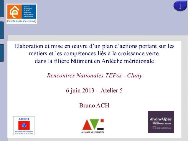MAISON DE L'EMPLOI (dispositif Etat issu du plan de cohésion sociale et de la loi de Elaboration et mise en œuvre d'un pla...