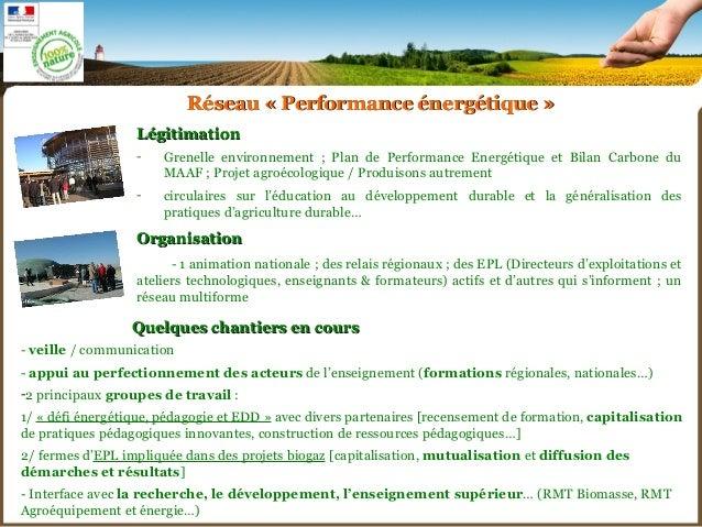 Accompagner les  transitions énergétiques en agriculture par la  formation et la mise en réseau d'établissements Slide 3