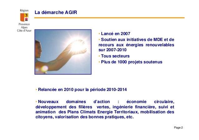 Démarche AGIR: appel à projets « Pour des exploitations et coopératives agricoles exemplaires » Slide 2