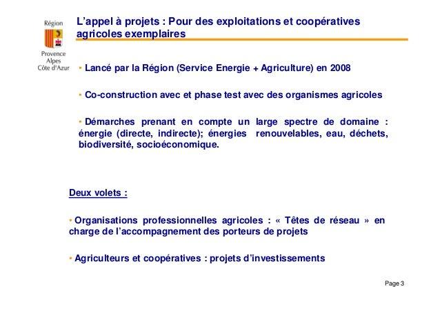 Démarche AGIR: appel à projets « Pour des exploitations et coopératives agricoles exemplaires » Slide 3
