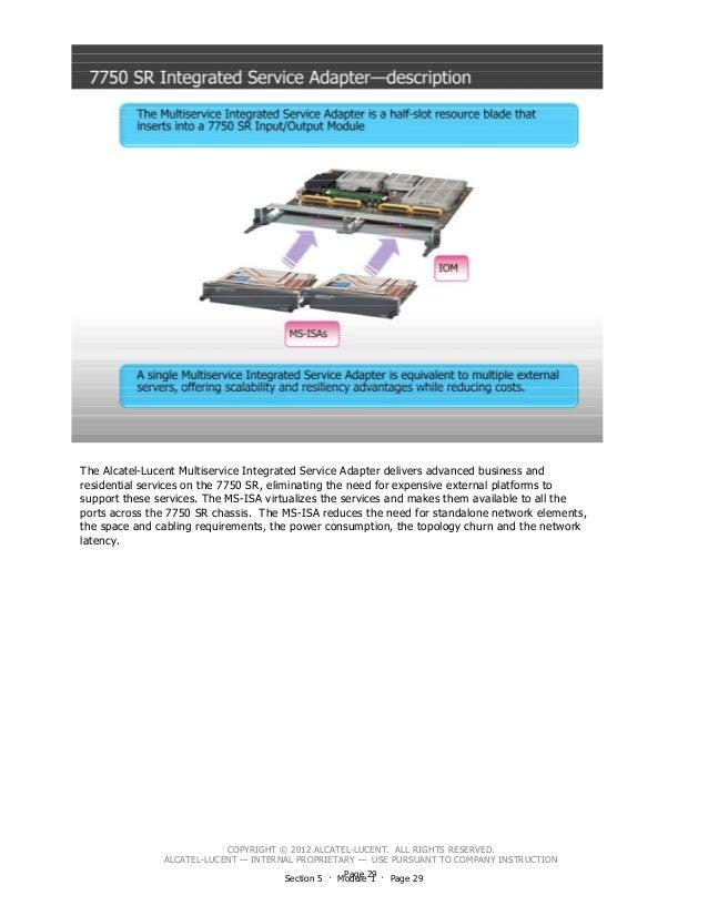 Alcatel - 7750 SR & CGNAT SR-OS Fundamental