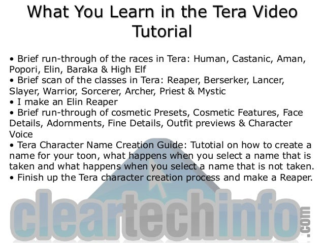 How-To Make a Reaper - Tera Character Creation Guide