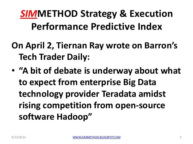 Teradata 2014, from predictive analytics to best in class