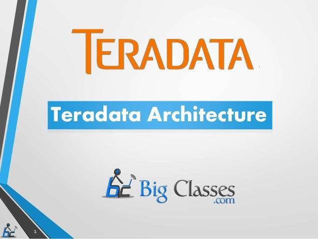 1 Teradata Architecture