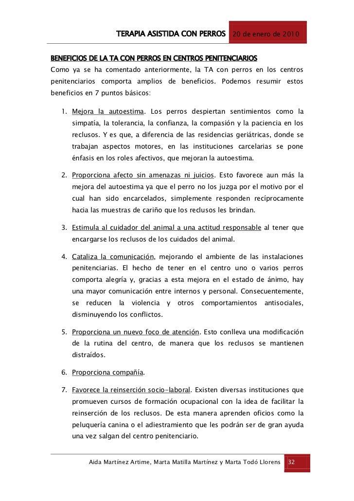 TERAPIA ASISTIDA CON PERROS - Aida Martínez Artime, Marta Matilla Ma…
