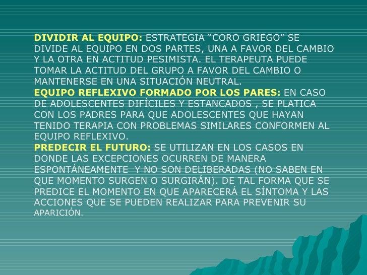 """DIVIDIR AL EQUIPO:  ESTRATEGIA """"CORO GRIEGO"""" SE DIVIDE AL EQUIPO EN DOS PARTES, UNA A FAVOR DEL CAMBIO Y LA OTRA EN ACTITU..."""