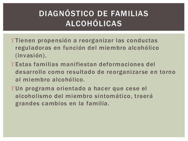 Tienen propensión a reorganizar las conductas reguladoras en función del miembro alcohólico (invasión). Estas familias m...