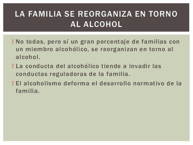 No todas, pero sí un gran porcentaje de familias con un miembro alcohólico, se reorganizan en torno al alcohol. La condu...