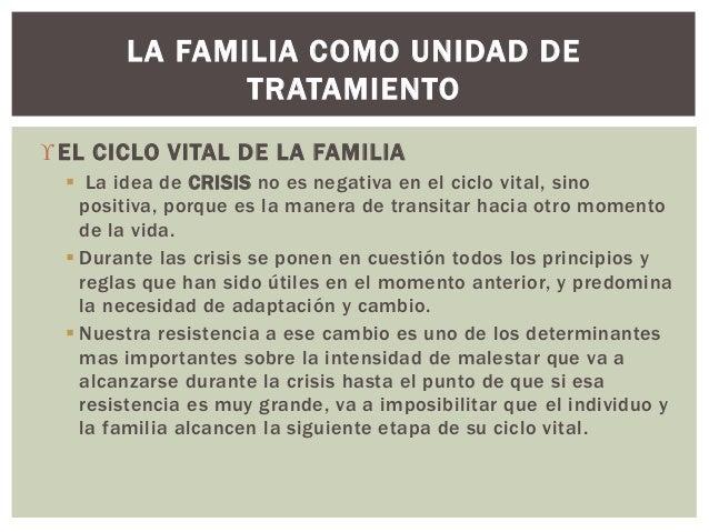 EL CICLO VITAL DE LA FAMILIA  La idea de CRISIS no es negativa en el ciclo vital, sino positiva, porque es la manera de ...