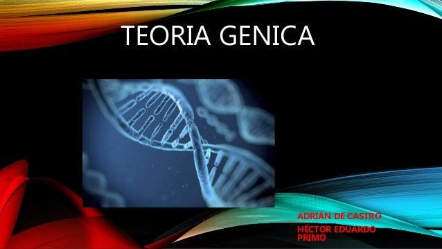 TEORIA GENICA ADRIÁN DE CASTRO HÉCTOR EDUARDO PRIMO