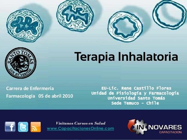 Terapia Inhalatoria EU-Lic. Rene Castillo Flores Unidad de Fisiología y Farmacología Universidad Santo Tomás Sede Temuco -...