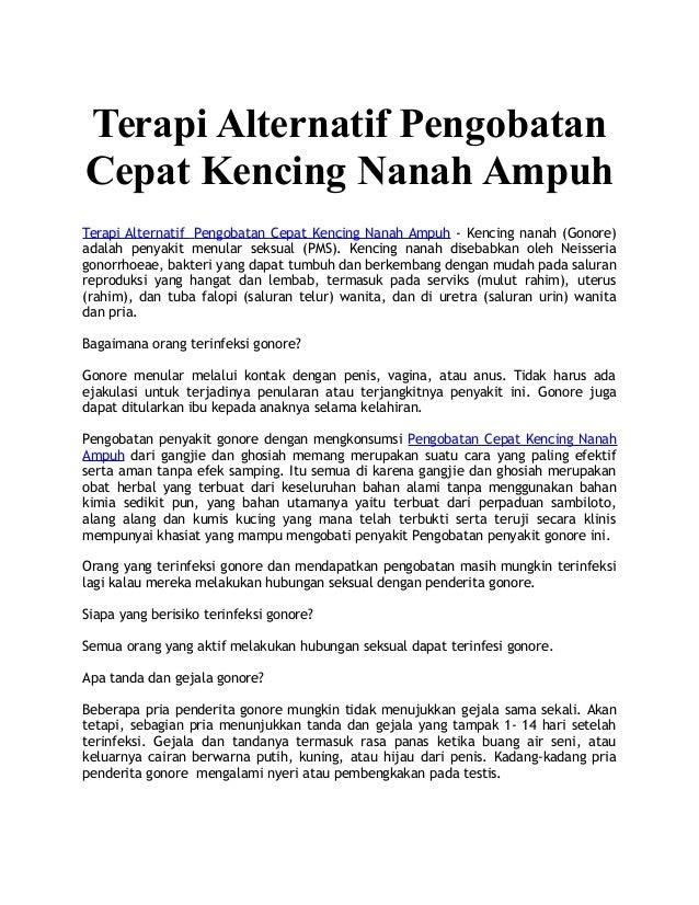 Terapi Alternatif Pengobatan Cepat Kencing Nanah Ampuh Terapi Alternatif Pengobatan Cepat Kencing Nanah Ampuh - Kencing na...