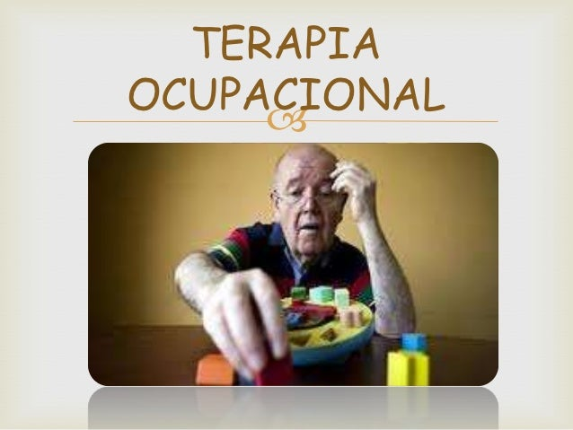 Terapia ocupacional presentacion