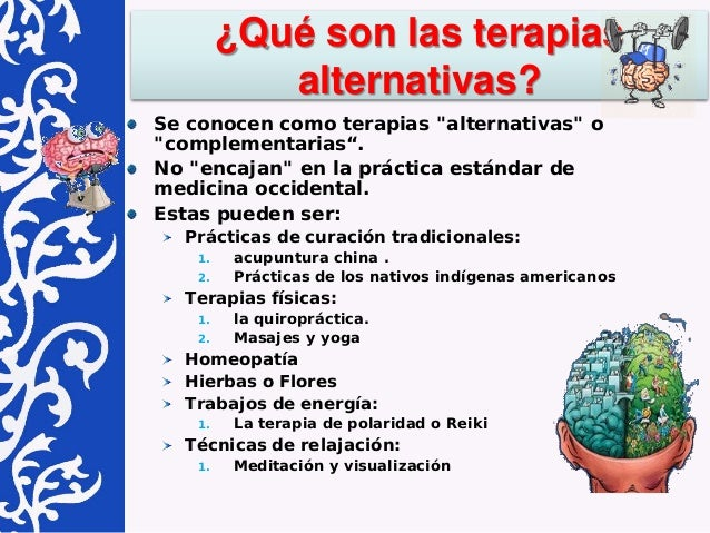 Terapias alternativas y autocuidado