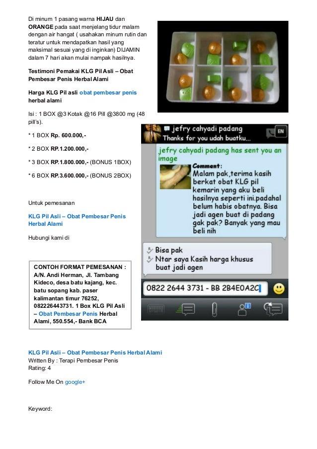 klg pil asli obat pembesar penis herbal alami
